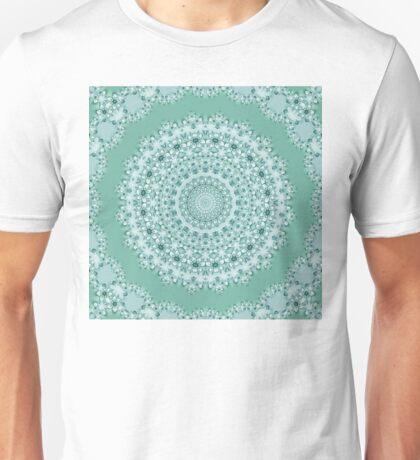 Flower Mandala with Frame - ocean green Unisex T-Shirt