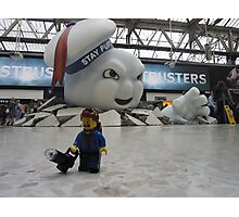 Attack of Stay Puft Photographic Print