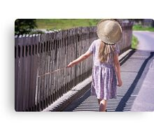 Girl explore the world Canvas Print