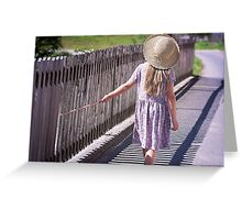 Girl explore the world Greeting Card