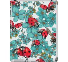Happy Ladybugs with flowers iPad Case/Skin