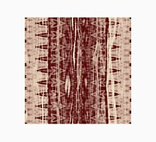 Native Wrinkly Batik pattern - brown / dark red Unisex T-Shirt