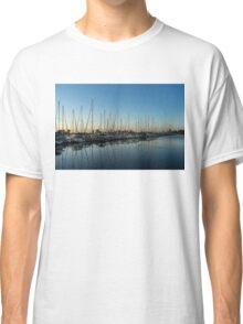 Glossy Early Morning Ripples - Bright Blue Summer at the Marina Classic T-Shirt