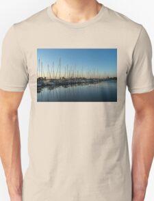 Glossy Early Morning Ripples - Bright Blue Summer at the Marina Unisex T-Shirt