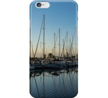 Glossy Early Morning Ripples - Bright Blue Summer at the Marina iPhone Case/Skin