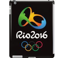 Olympic Rio 2016 (Black) iPad Case/Skin