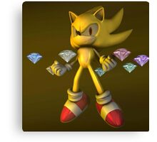 Super Sonic Diamond Canvas Print