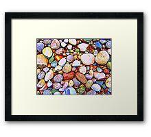 Abstract Rocks Framed Print