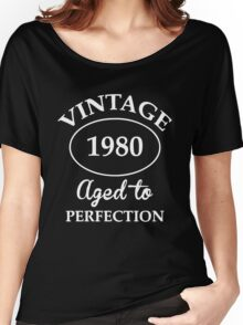 vintage 1980 aged to perfection Women's Relaxed Fit T-Shirt