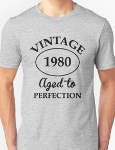 vintage 1980 aged to perfection T-Shirt