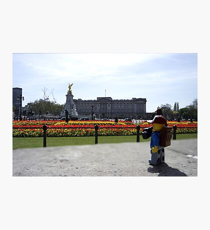 The Lego Backpacker checking out Buckingham Palace Photographic Print