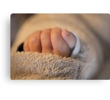 Hand of a newborn baby Metal Print