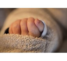 Hand of a newborn baby Photographic Print