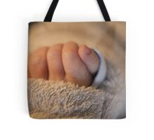 Hand of a newborn baby Tote Bag