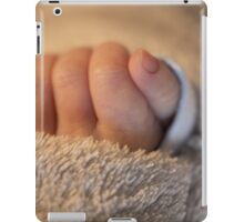 Hand of a newborn baby iPad Case/Skin