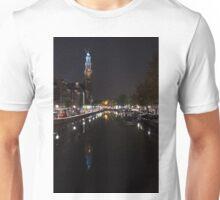 Magical Amsterdam Night - Blue Crown Skyline Unisex T-Shirt