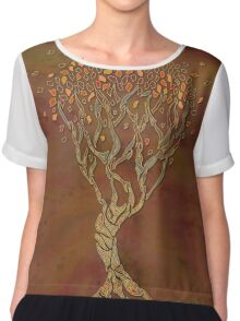 Fantasy Fall Tree Chiffon Top