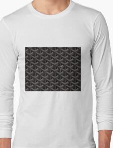 Goyard Case Black Long Sleeve T-Shirt