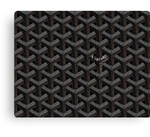 Goyard Case Black Canvas Print