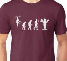 Funny Evolution Of Man and Clown Unisex T-Shirt