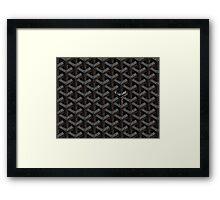 Goyard Perfect Case black Framed Print