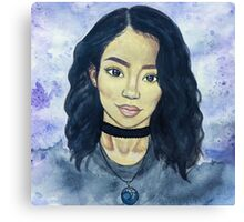 jhene aiko watercolor Canvas Print