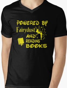Powered by Fairydust and reading books Mens V-Neck T-Shirt