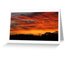 Victorian Red Sky Greeting Card