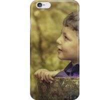 boy playing  iPhone Case/Skin