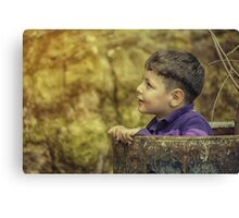 boy playing  Canvas Print