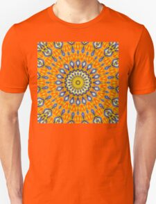 Mandala FOX IS WATCHING YOU - orange blue Unisex T-Shirt