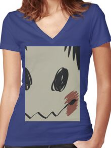 Mimikyu print T Women's Fitted V-Neck T-Shirt
