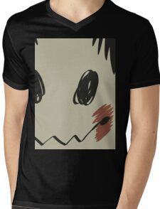 Mimikyu print T Mens V-Neck T-Shirt