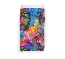 Sea Life Abstract Alcohol Ink Duvet Cover