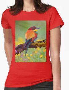 Bird Pinting Vector Womens Fitted T-Shirt
