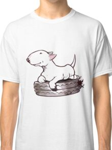 Bull Terrier On Board Funny Classic T-Shirt