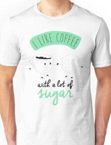 I like coffee Unisex T-Shirt