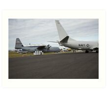 US Air Force and US Navy planes on show at the Futures Day & FAB Friday at Farnborough International Airshow Art Print