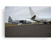 US Air Force and US Navy planes on show at the Futures Day & FAB Friday at Farnborough International Airshow Canvas Print