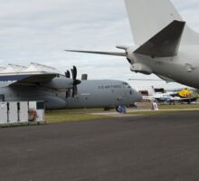 US Air Force and US Navy planes on show at the Futures Day & FAB Friday at Farnborough International Airshow Sticker