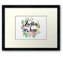 Zoella Is Bae Framed Print