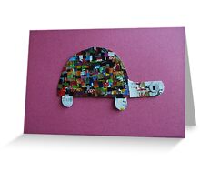 A tortoise in Pink  Greeting Card