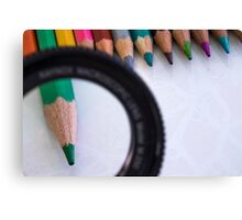 Sharpened coloured pencil crayons  Canvas Print