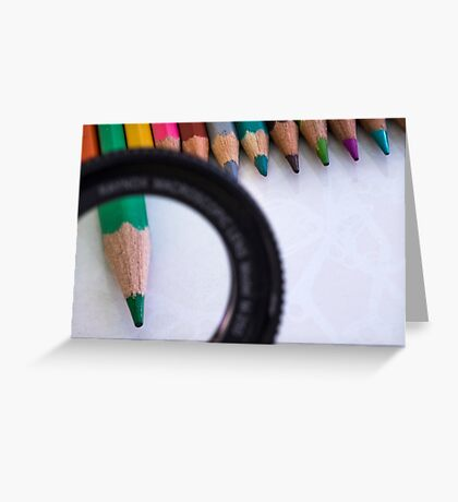 Sharpened coloured pencil crayons  Greeting Card