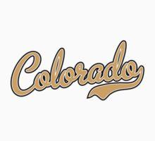 Colorado Script Font Gold Kids Clothes