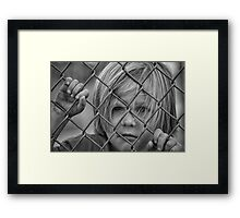 Emotions boy  portrait Framed Print