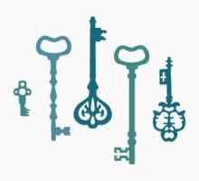 Mermaid Water Treasures - Turquoise Keys Kids Tee