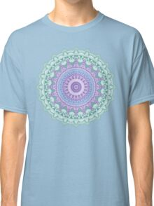 Lotus Flower Mandala - light green violet blue Classic T-Shirt
