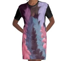 Summer leaves Graphic T-Shirt Dress