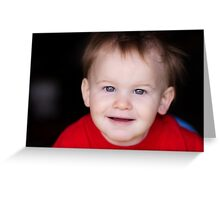 cute little boy Greeting Card